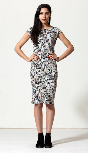 Rodilla Dress: Snow Leopard