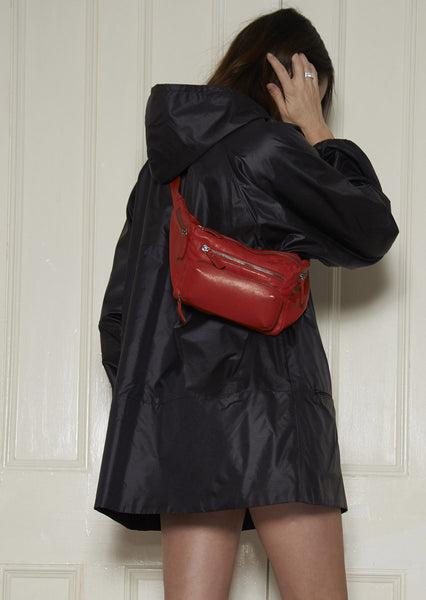 Leather Body Bag, the original from 2011. Lipstick Red
