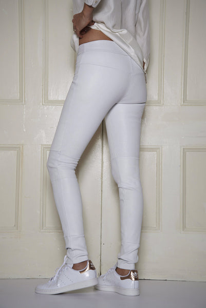 dfccea4193 Classic Stretch-Leather Leggings: White – Daryl K