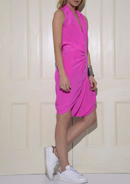 Jump Dress: Fuchsia
