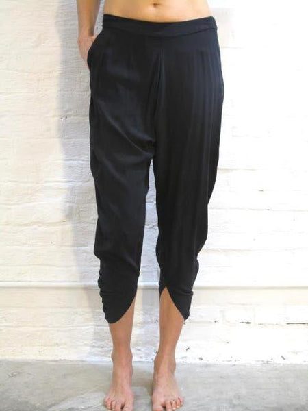Silk Crepe De Chine Crescent Pants