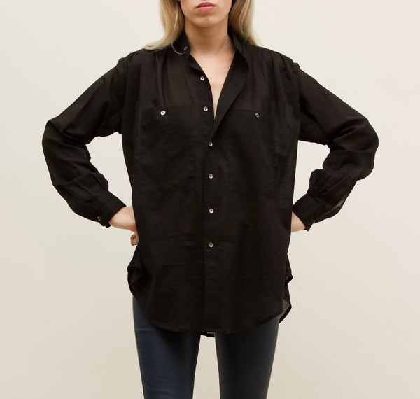 Black Peasant Shirt