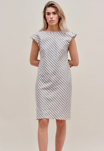 Rodilla Dress Ticking Striped Cotton