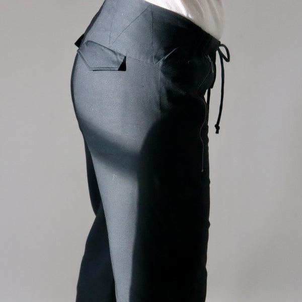 Drawstring Pants -Fine Wool Suiting.