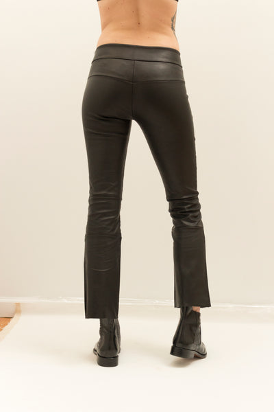 Copy of Cropped Stretch Leather Bootlegging