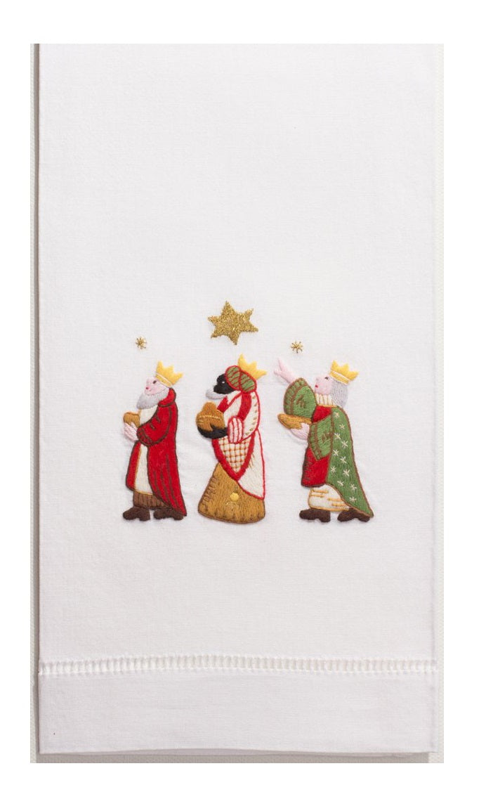 Three Wise Men Hand Embroidered Towel