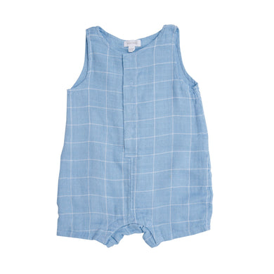Blue Shortie Romper- Off The Grid