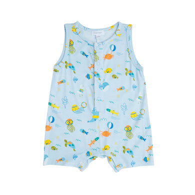 Shortie Romper- Sea Creatures