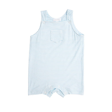 Blue Stripe Overall Shortie