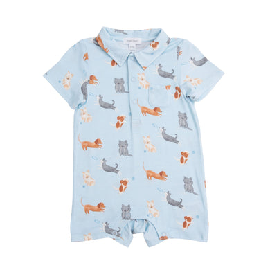 Polo Romper- Puppies