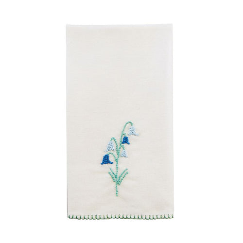 Bluebell Botanical French Knot Towel