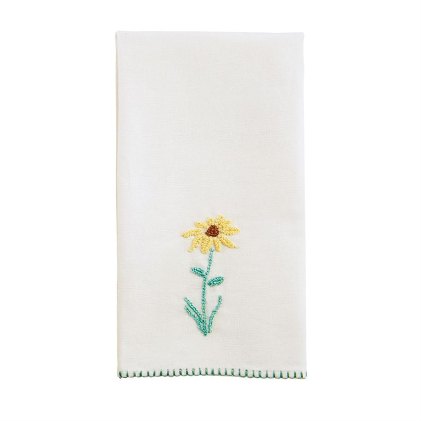 Daisy Botanical French Knot Towel