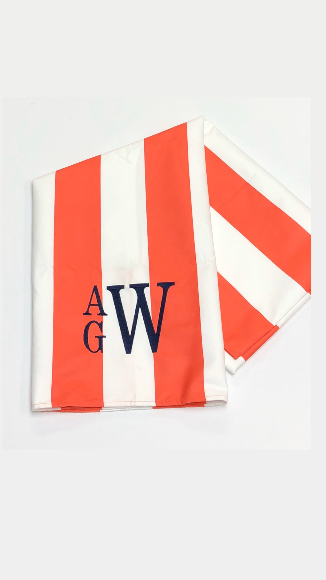Quick Dry Beach Towel- Waikiki Orange