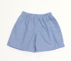 Royal Gingham Shorts