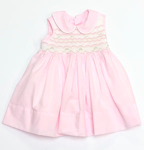 Pink Pheonix Smocked Dress