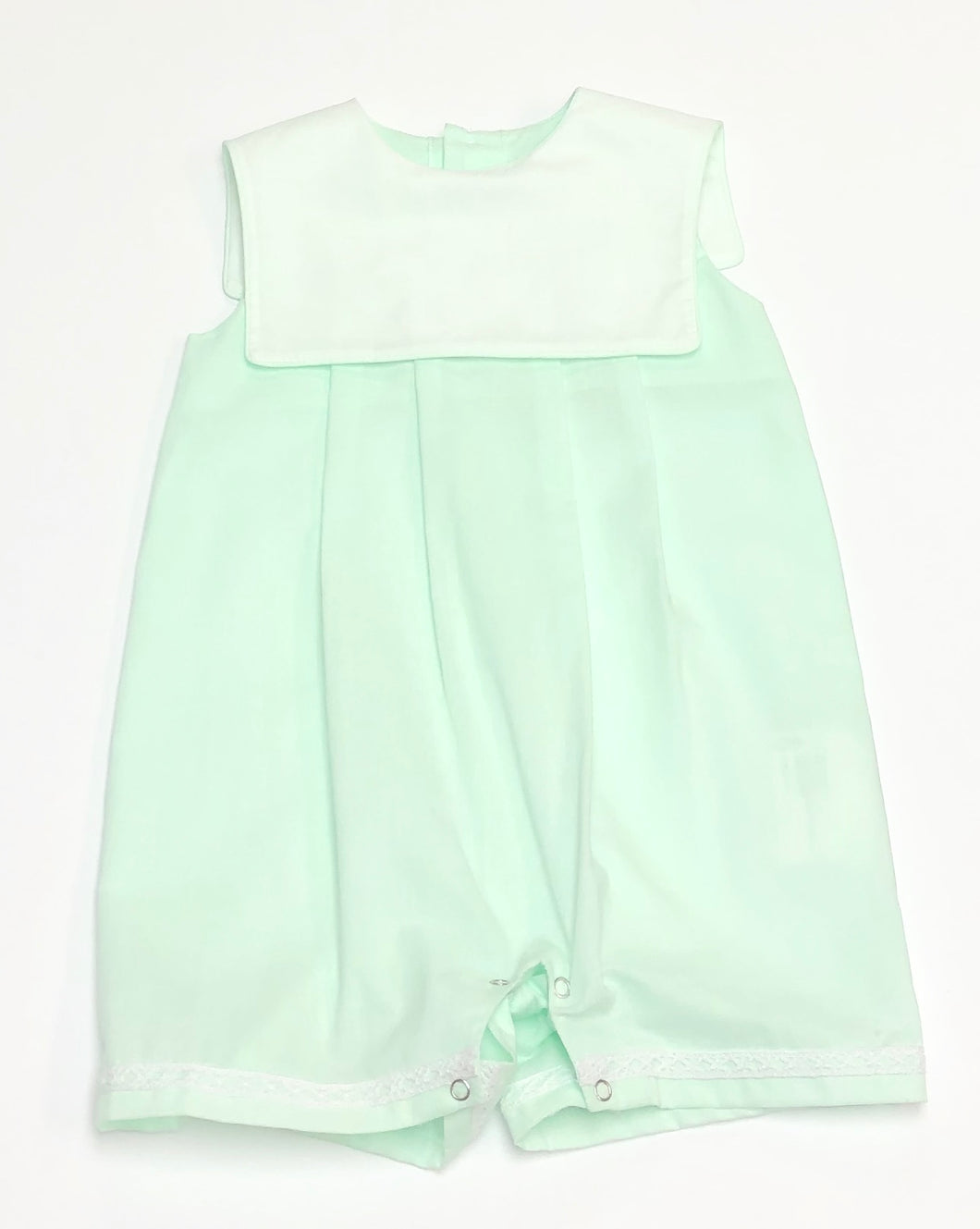 Mint Square Bib Romper