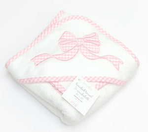Bow Applique Hooded Towel Set