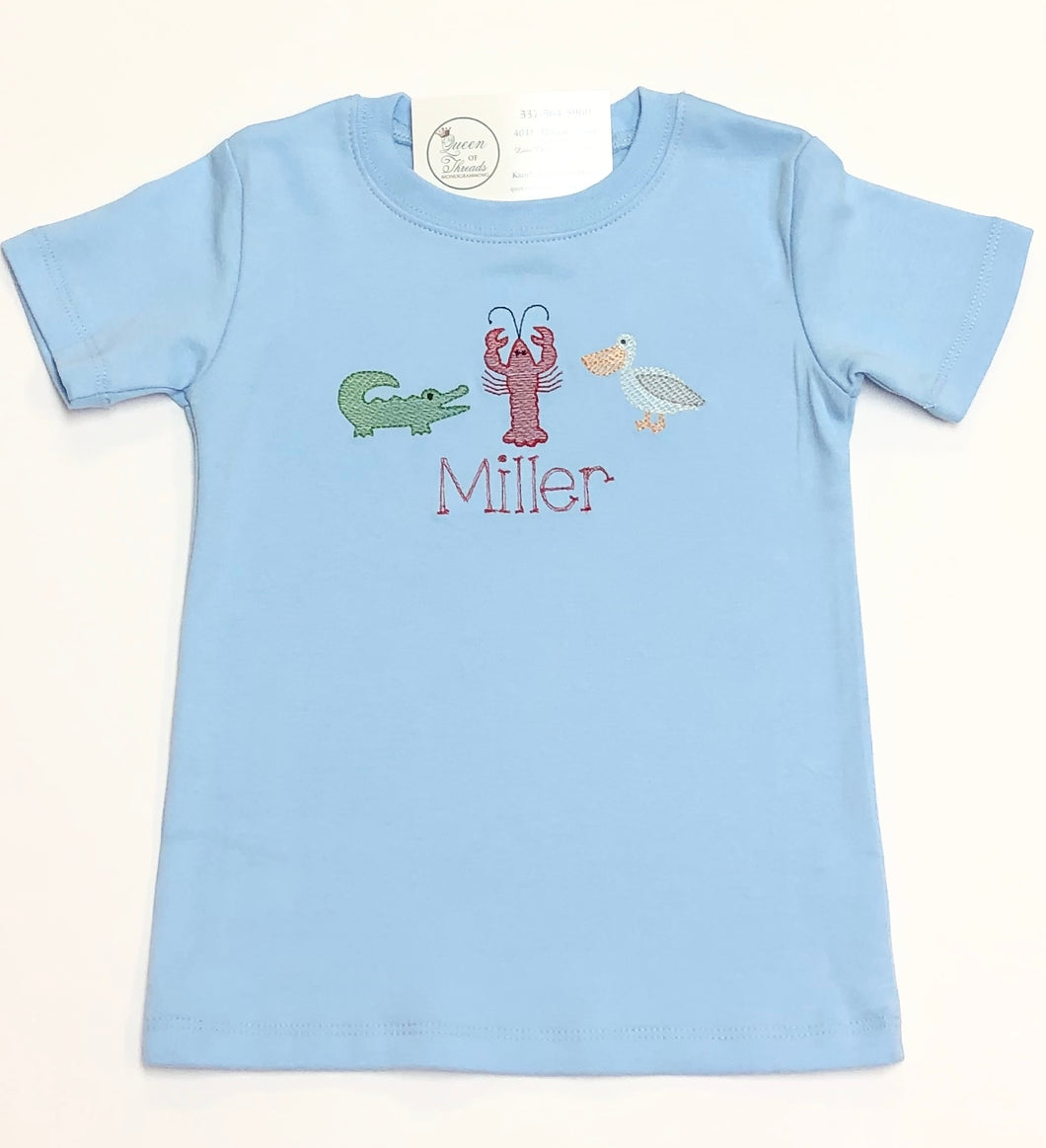 Louisiana Trio Light Blue Tee