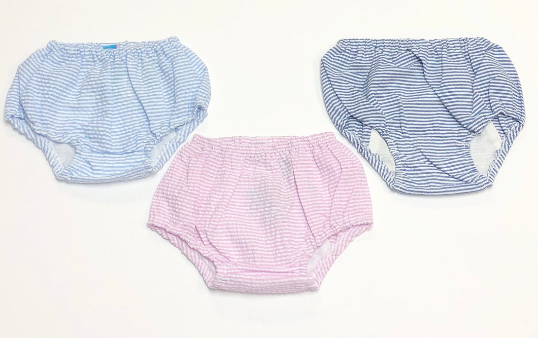 Unisex Seersucker Diaper Covers