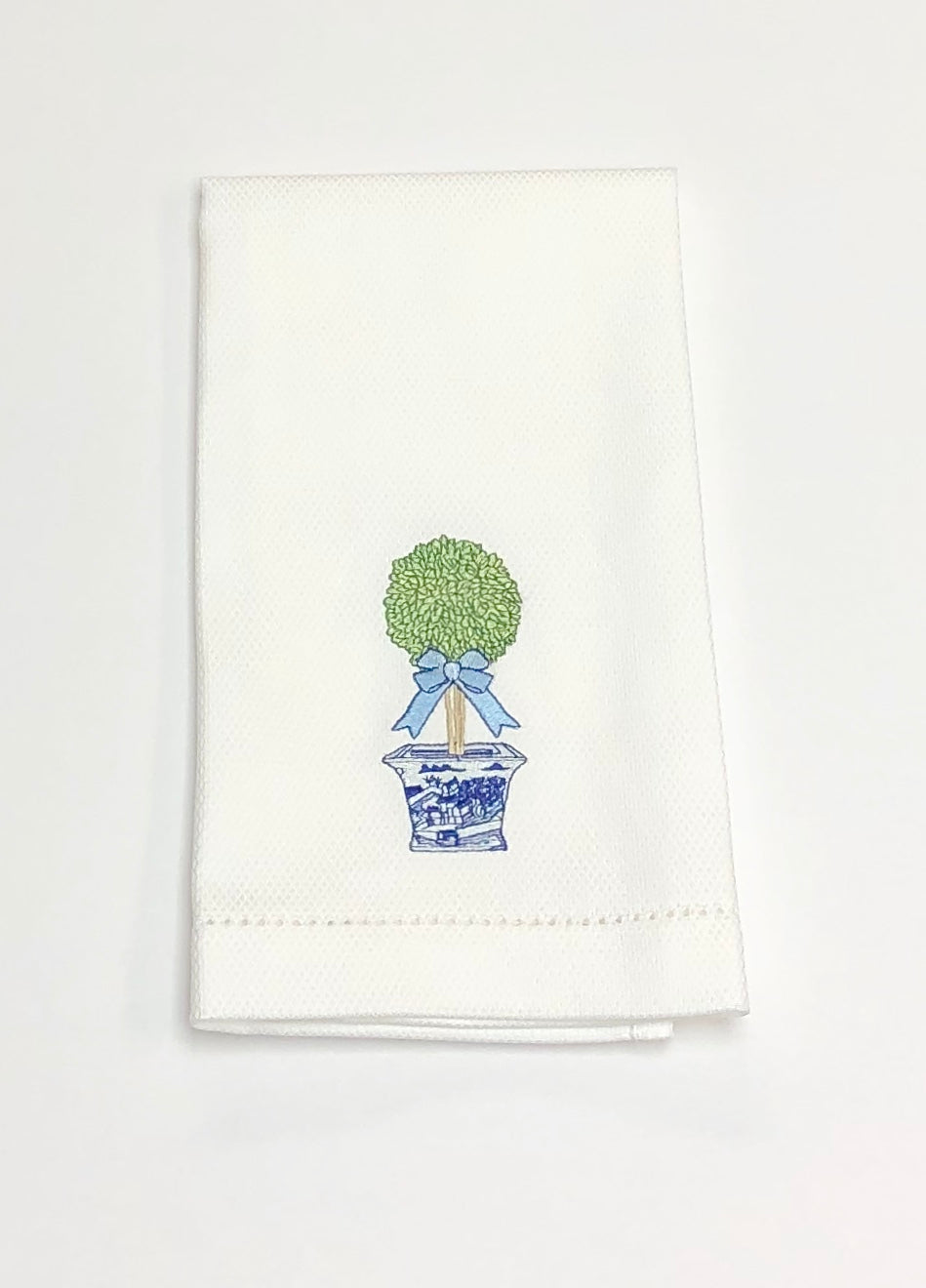 Chinoiserie Bow Topiary Hand Towel