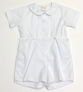 Boys White Short Set