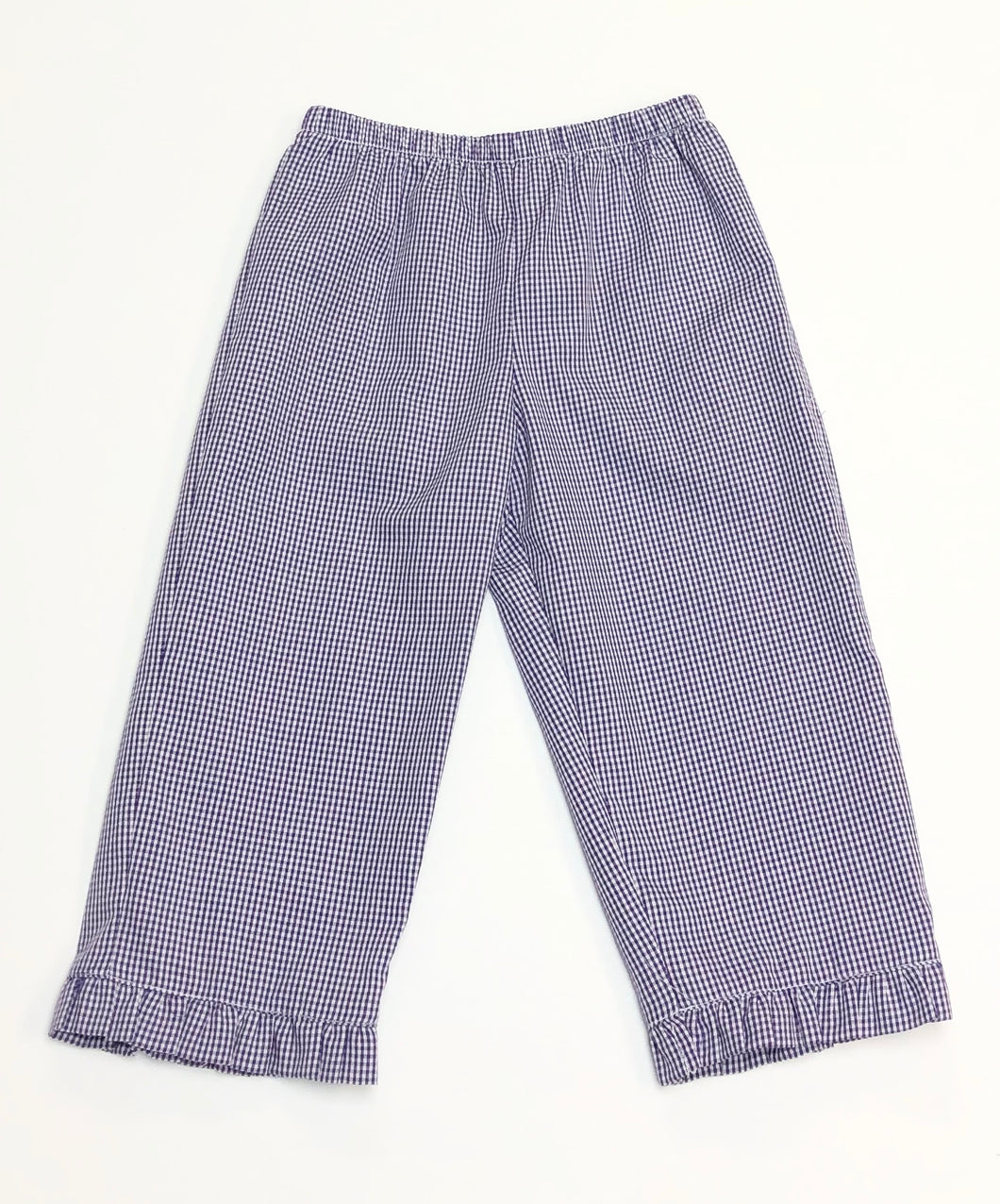 Purple Gingham Ruffle Pants