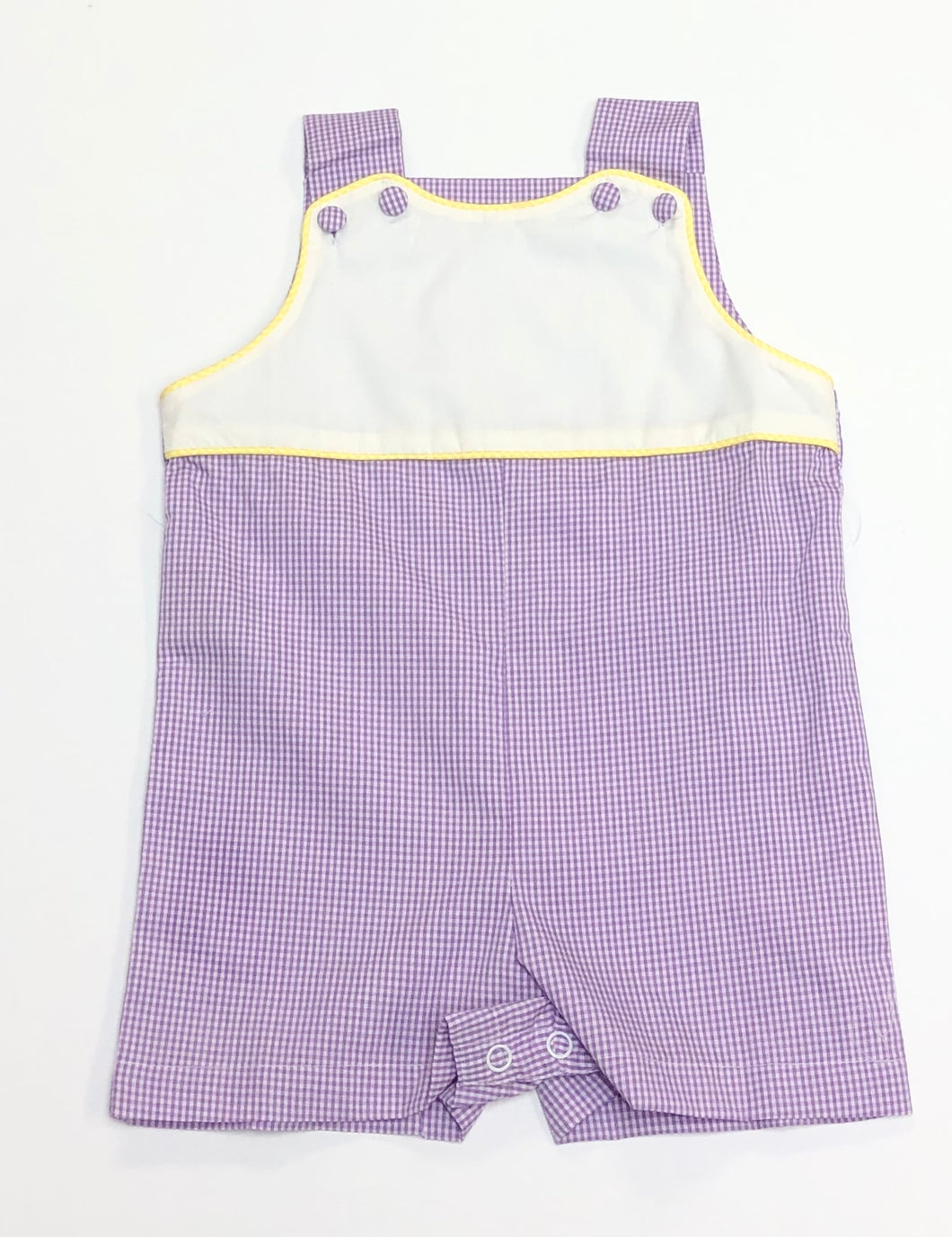 Purple Gingham Shortall