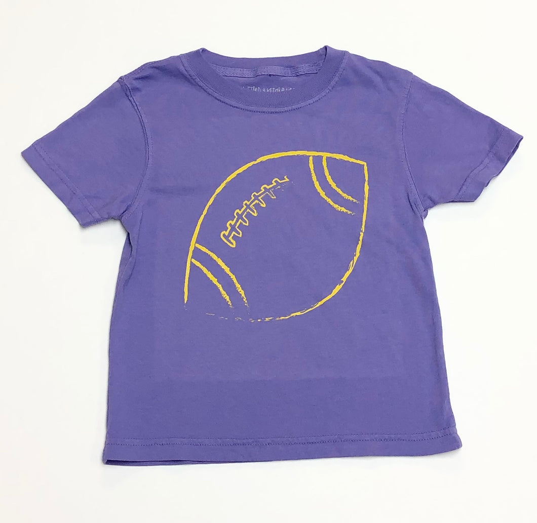 Purple and Gold Football T-Shirt