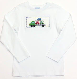 Smocked Trailer Long Sleeve Tee