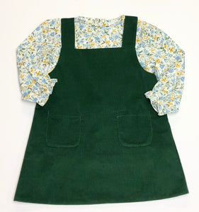Green Corduroy Jumper Set