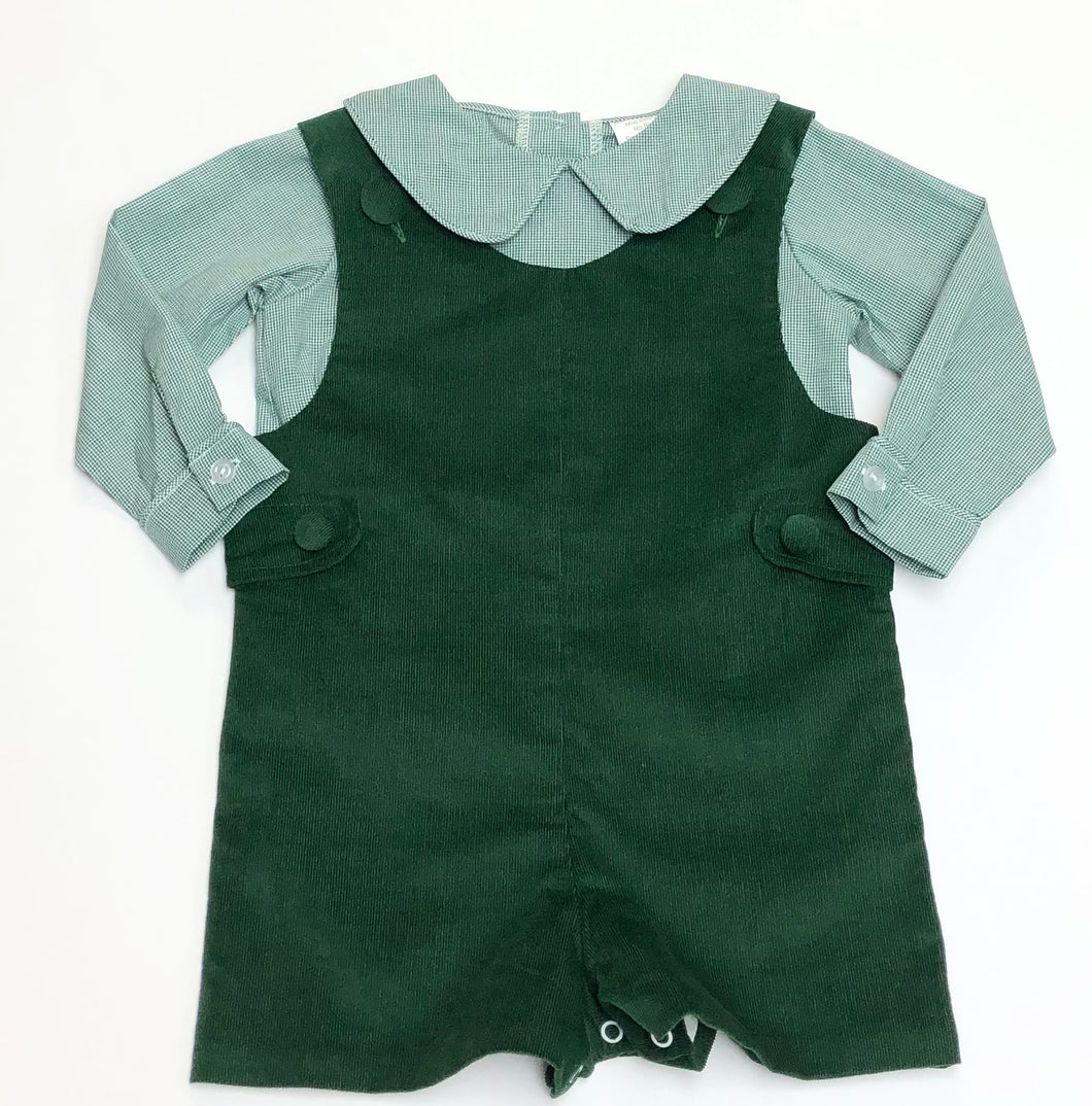 Green Corduroy Shorall Set