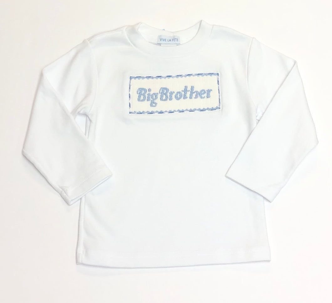 Smocked Big Brother Long Sleeve Tee