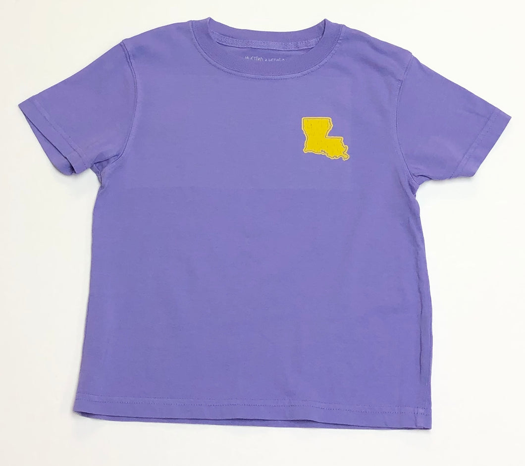 Purple and Gold State of LA T-Shirt
