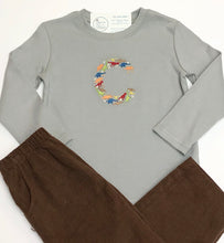 Load image into Gallery viewer, Dinosaur Letter L/S Tee