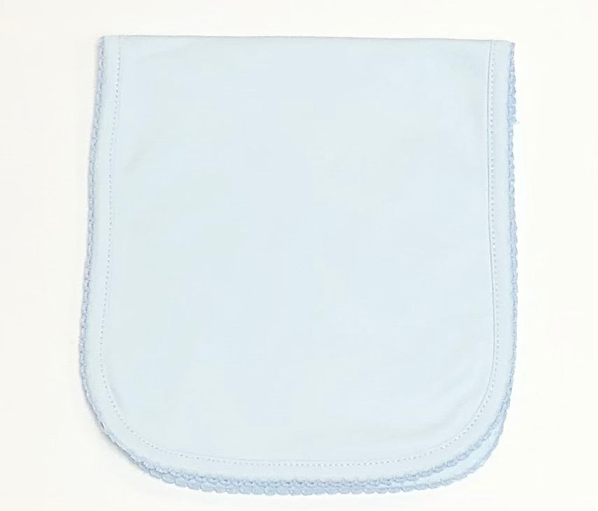 Blue Pima Burp Cloth