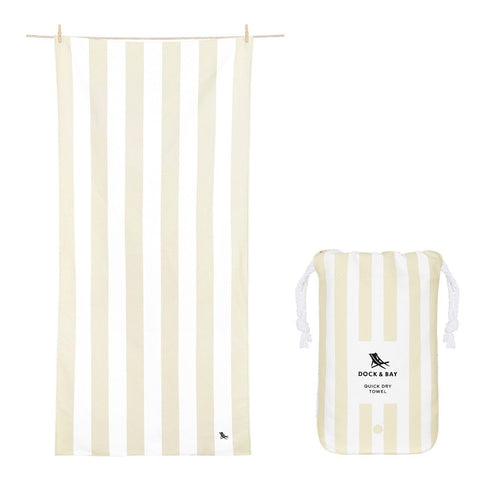 Quick Dry Beach Towel- Light Beige