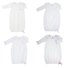 Load image into Gallery viewer, White Paty Knit Gowns with Trim