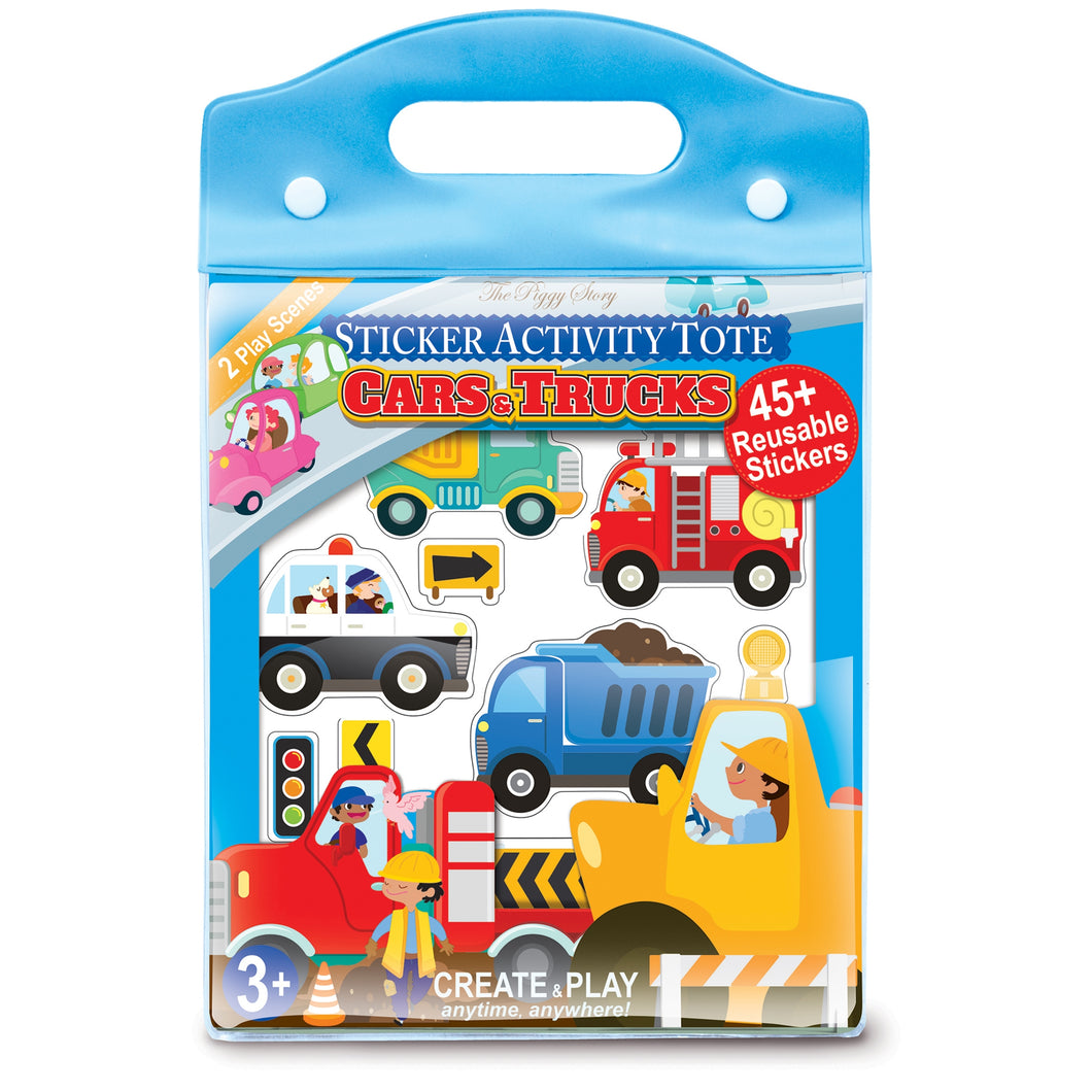 Sticker Activity Tote- Cars & Trucks