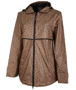Women's New Englander Cheetah Rain Jacket