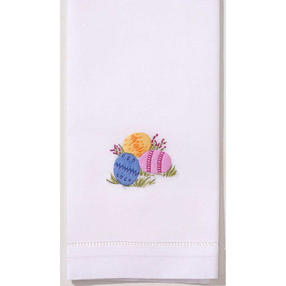Easter Eggs Hand Embroidered Towel