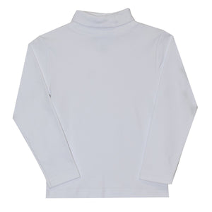 Boys White Knit Turtle Neck