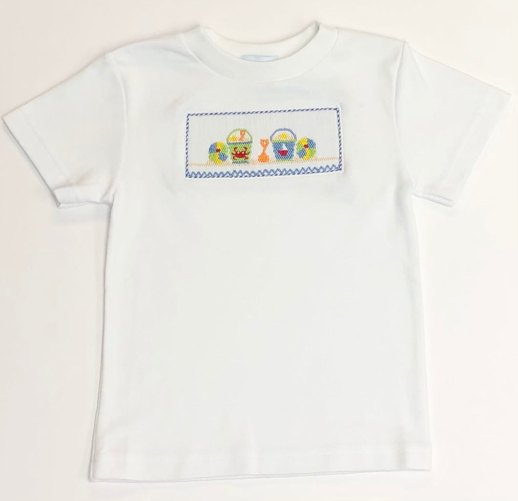 Boys Beach Smocked Shirt