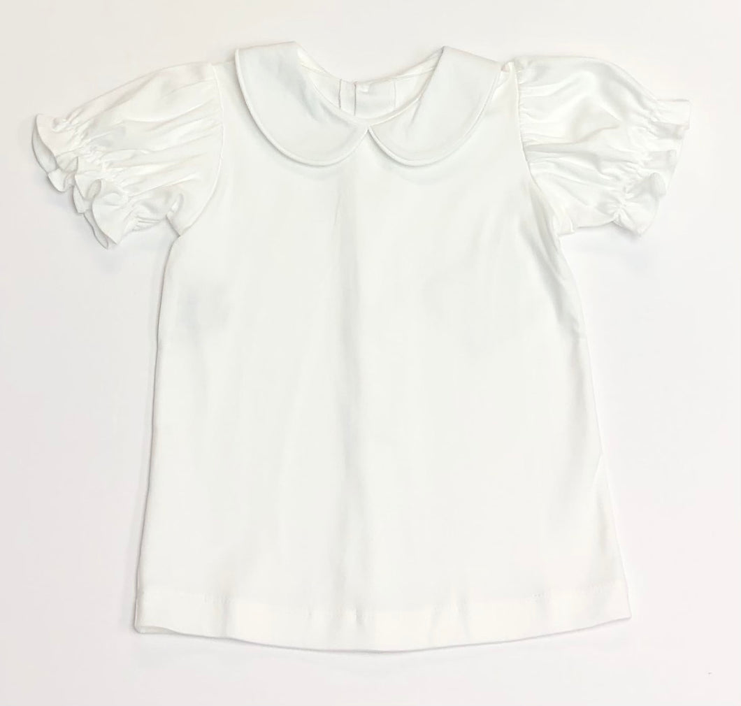 Girls Short Sleeve Collared Knit Shirt