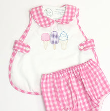 Load image into Gallery viewer, Pink Gingham Everett Apron Set