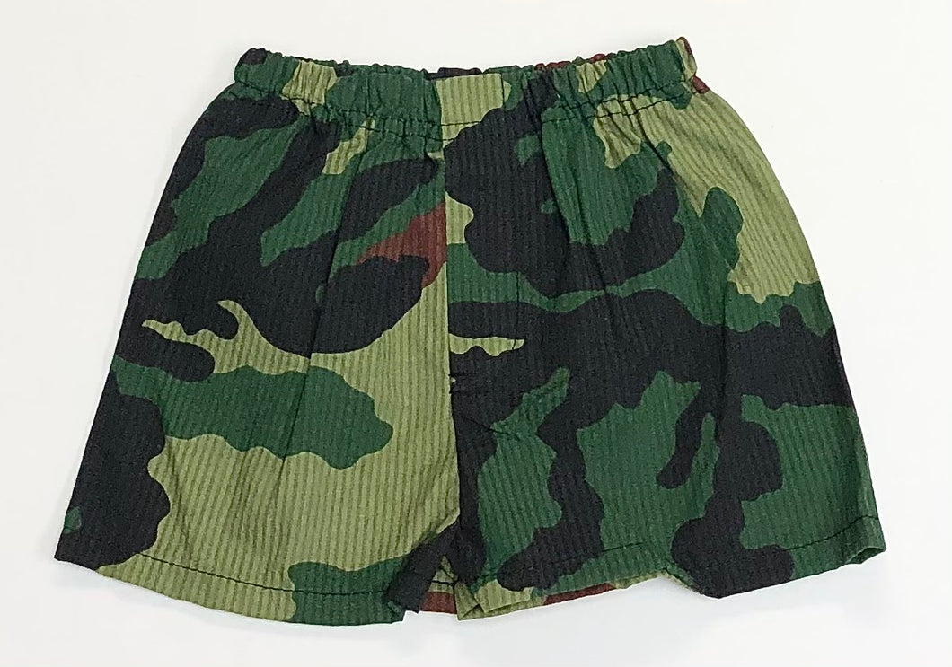 Woodland Camo Seersucker Shorts