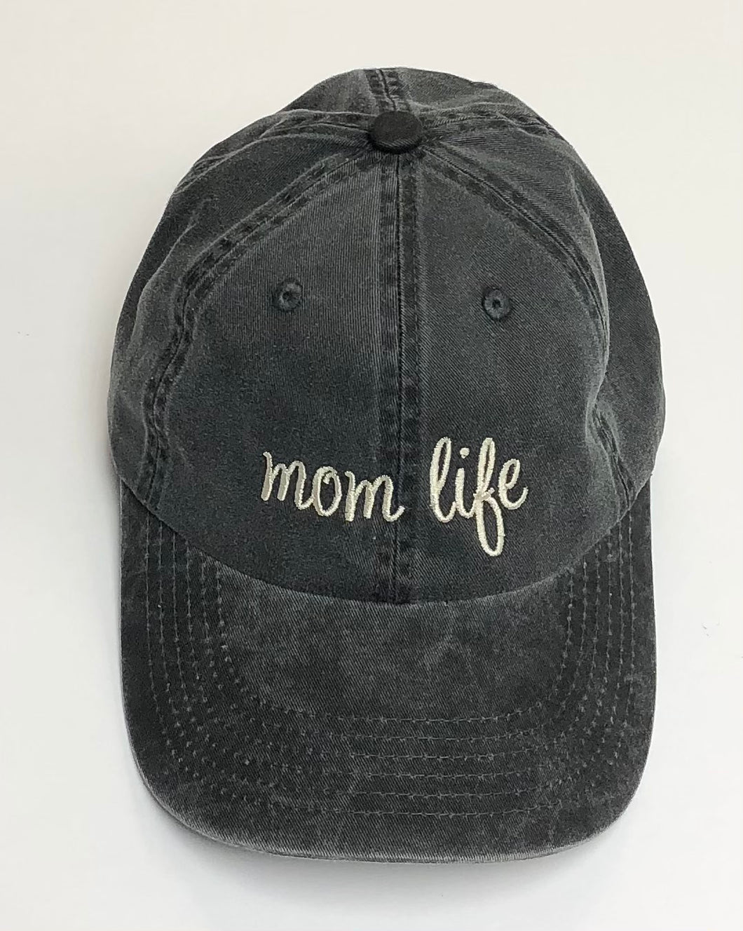 Dark Grey Mom Life Adult Baseball Cap