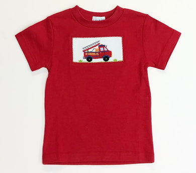 Firetruck Smocked Red Shirt