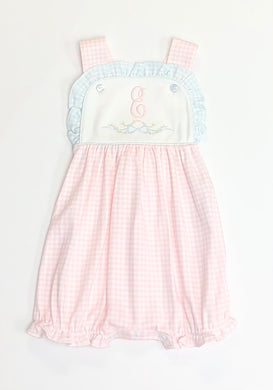 Aby Pink and Blue Gingham Pima Sun Bubble