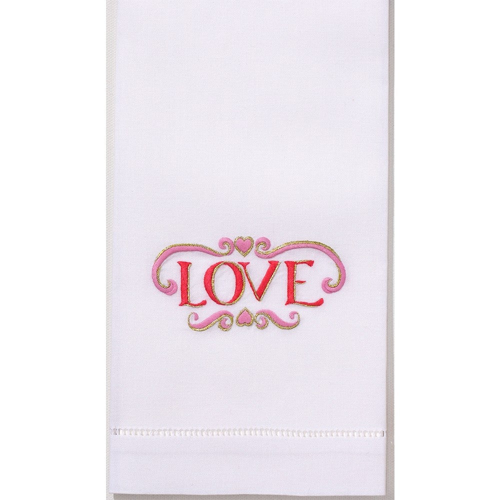 Love Hand Embroidered Towel