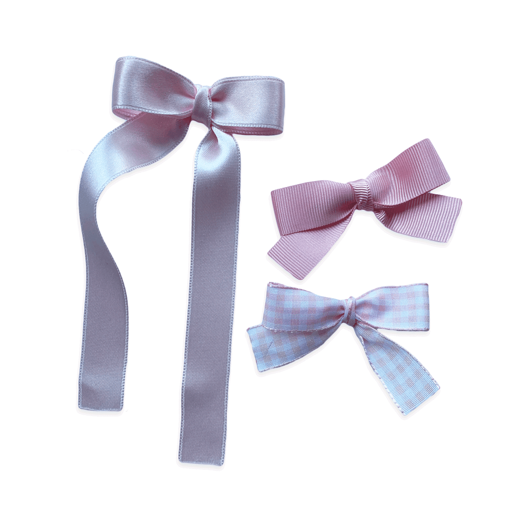 Baby Pink Set of 3 Bows